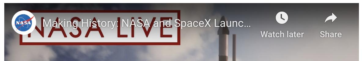 NASA/SPACEX Crew Dragon Launch